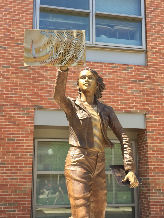The Quintessential Engineer, a bronze sculpture by artist Julie Rotblatt-Amrany for the University of Illinois, Urbana