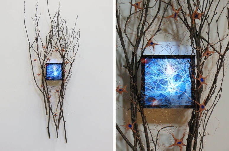 Neuron Interface, mixed media, 2014