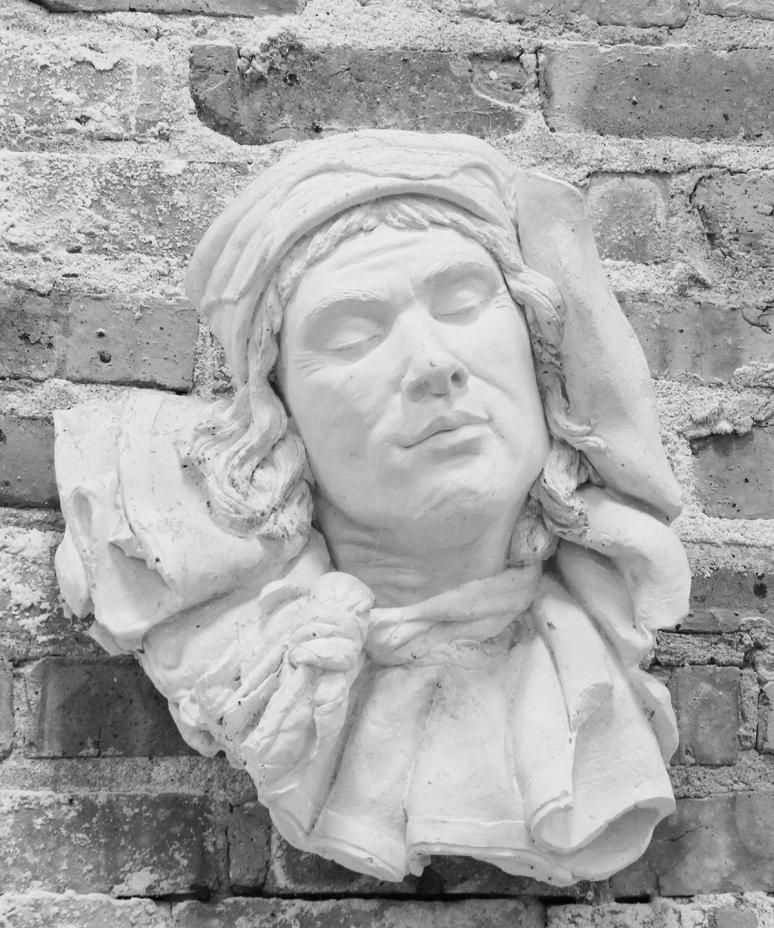 Petroushka, a sculpture cast in plaster by artist Julie Rotblatt-Amrany