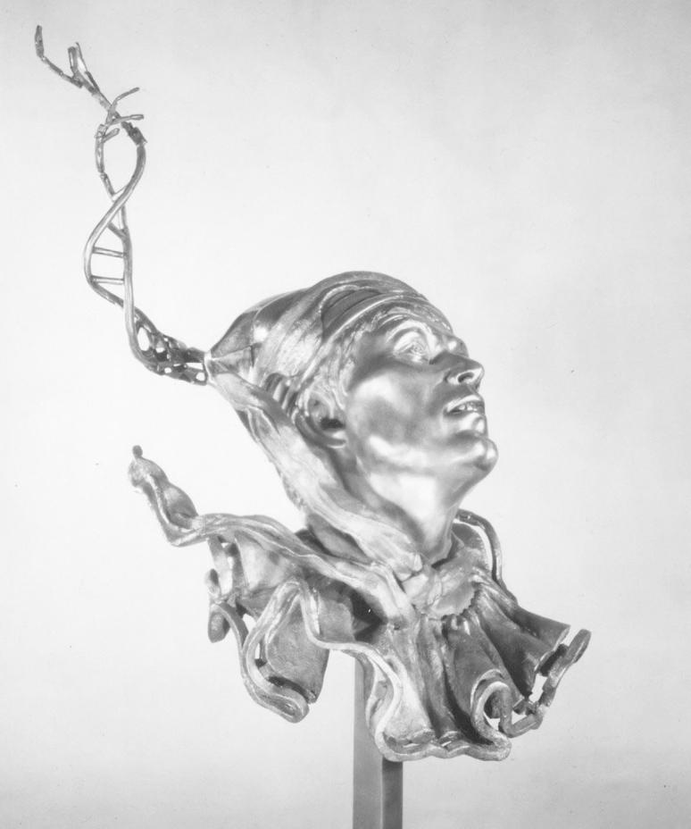 Petroushka's Helix, a steel sculpture by artist Julie Rotblatt-Amrany