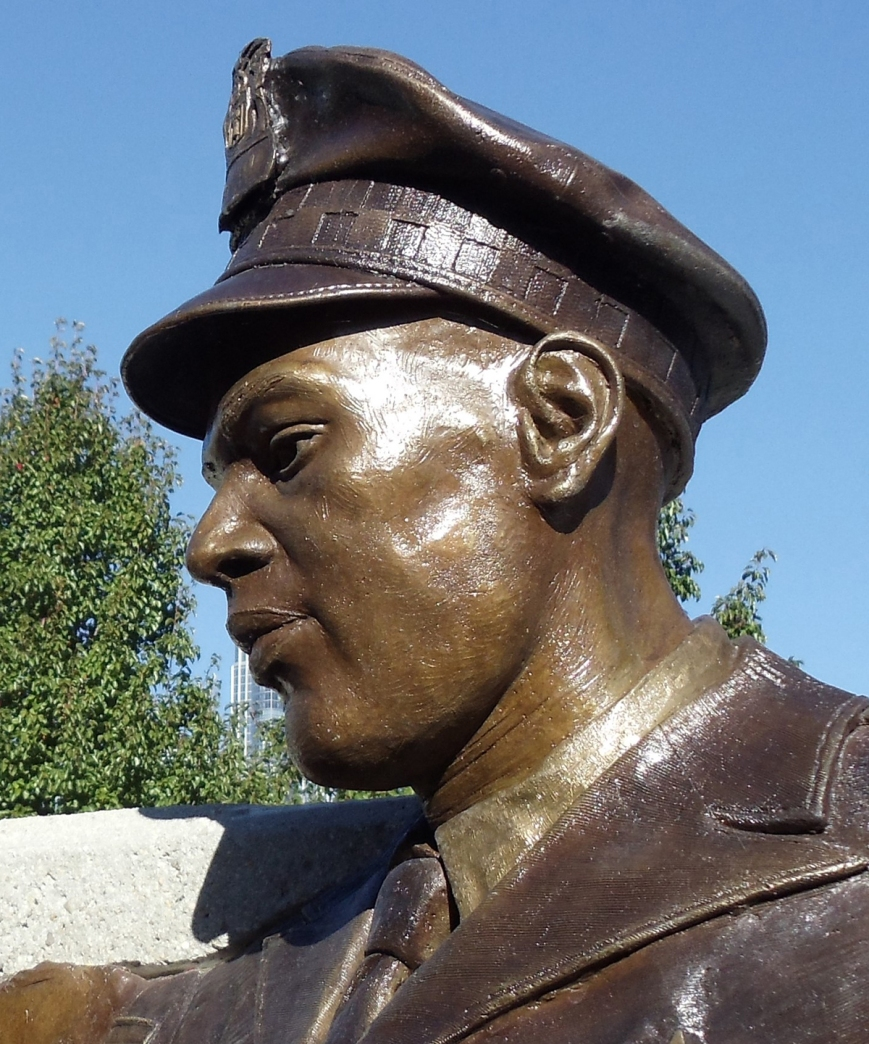Bronze memorial sculpture by Julie Rotblatt-Amrany, Tribute to Injured Police Officers and their Families, Chicago